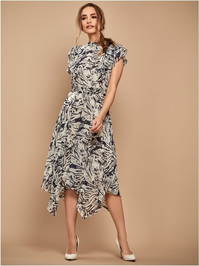 Sonder Studio animal ruffle dress