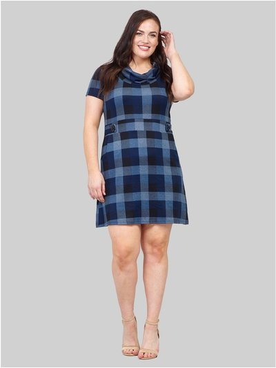 Izabel Curve checked knitted tunic dress