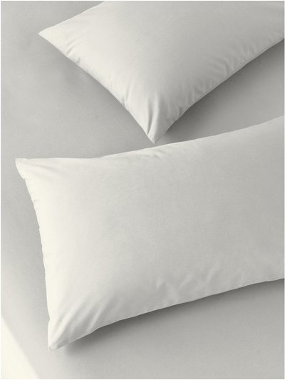 Cotton rich beige pillowcases two pack