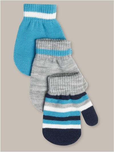 Striped magic mittens three pack