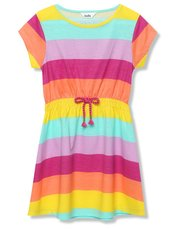 Rainbow stripe dress (3 - 12 yrs)