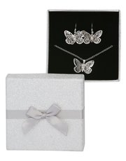 Butterfly necklace and earrings gift set