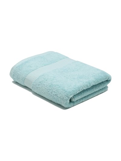 Mint combed cotton bath sheet