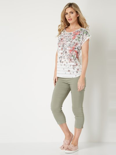 Roman Originals stripe floral top