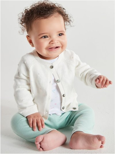 Bow back leggings two pack (0-18mths)
