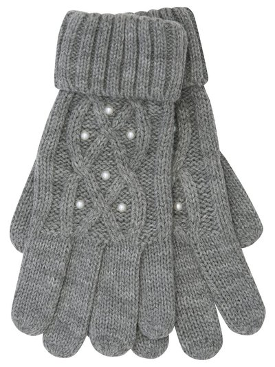 Pearl knit gloves