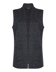 TIGI charcoal sleeveless cardigan