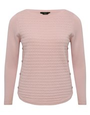 Petite supersoft button trim jumper
