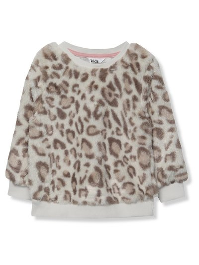 Faux fur leopard sweatshirt (9mths-5yrs)