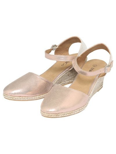 Sunlove close toe espadrille wedge