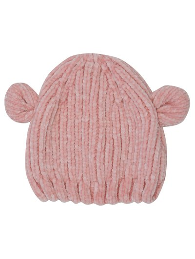 Chenille bear ear hat