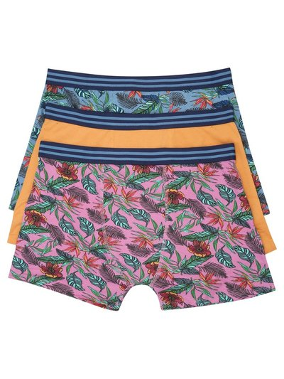 Floral print trunks three pack