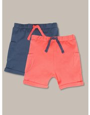 Pique shorts two pack (newborn-18mths)