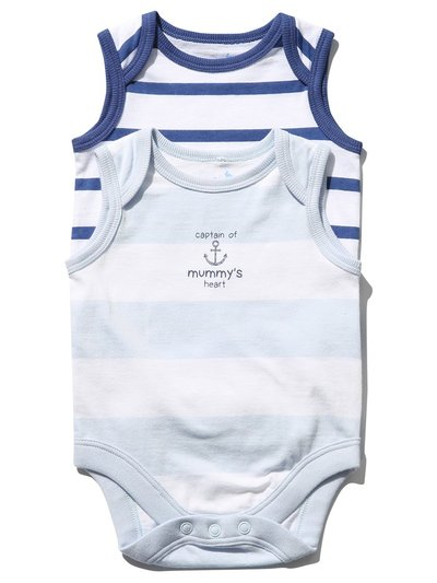 Striped bodysuit two pack (Newborn-18mths)