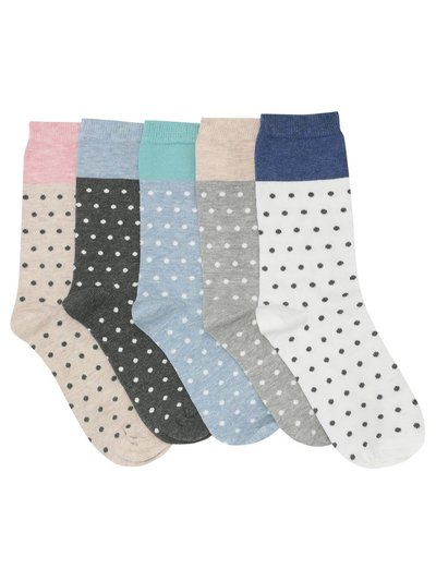 Colourblock spot socks five pack