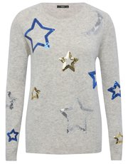 Moon and stars embellished jumper