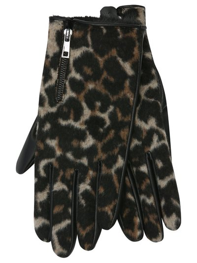 Animal print pu gloves