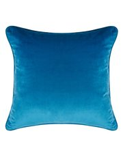 Teal velour cushion