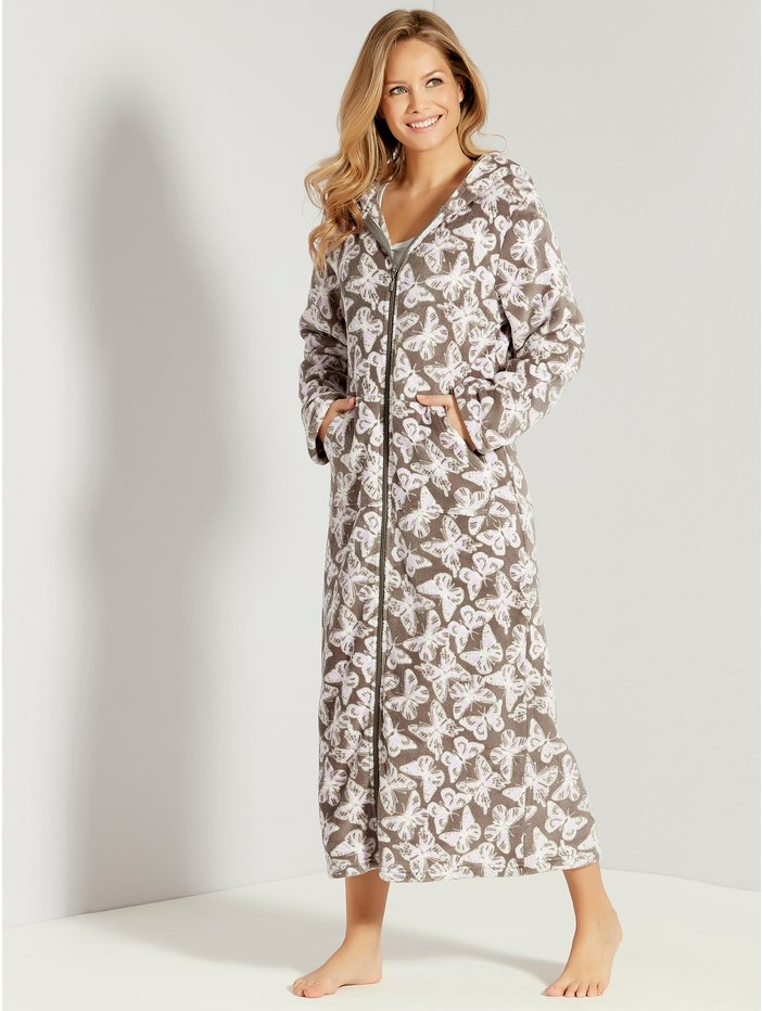 Butterfly Zip Front Dressing Gown  55bc26c82a