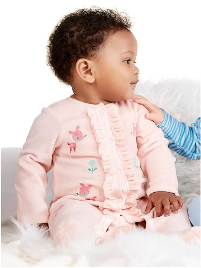 Animal velour sleepsuit (Newborn-18mths)