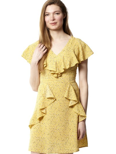 Izabel floral frill tea dress