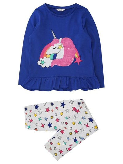 Two way sequin unicorn pyjamas (4-12yrs)