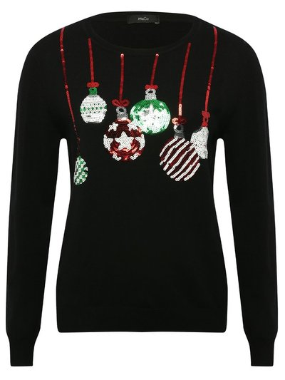 Bauble sequin Christmas jumper