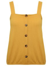 Petite button through cami top