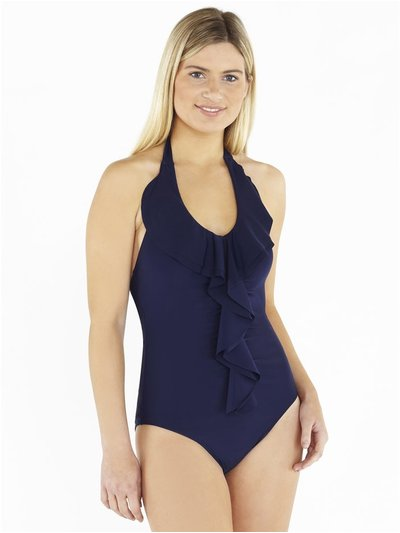 Beachcomber waterfall frill front swimsuit