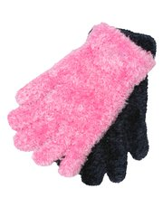 Eyelash knit gloves two pack