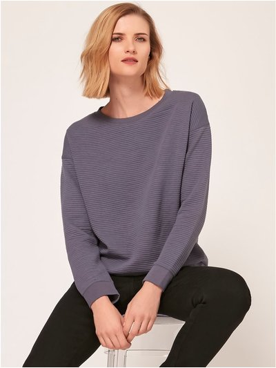 Ribbed sweatshirt