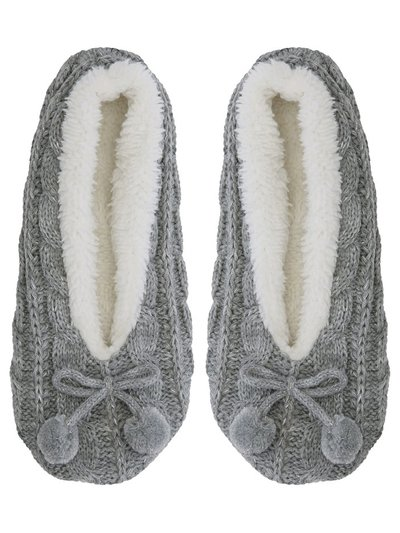 Cable knit ballerina slippers