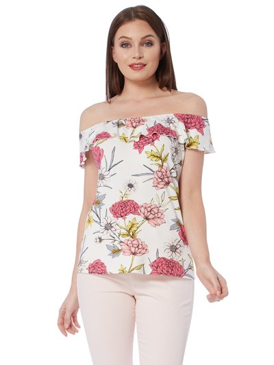 Roman Originals frill floral bardot top