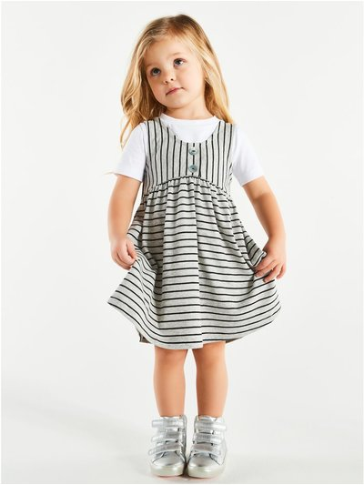 Striped skater dress and t-shirt (9mths-5yrs)