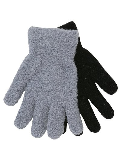 Teen glitter fleece gloves two pack