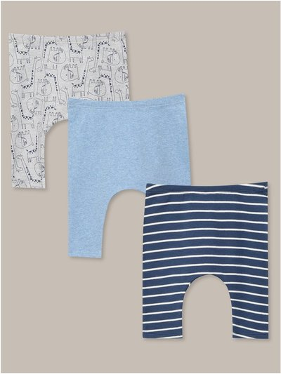 Animal stripe leggings three pack (Newborn-18mths)