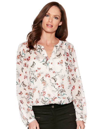 Butterfly print blouse