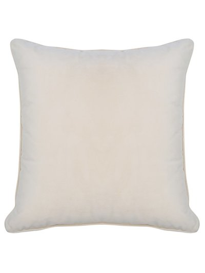 Cream velour cushion