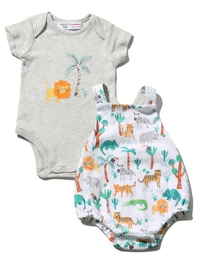 Minoti jungle bodysuit and bibshort set (0 mths - 1 yr)