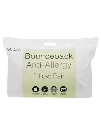 Bounceback medium support anti allergy pillows