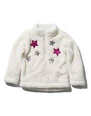 Two way sequin star fleece