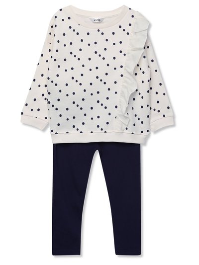Spot sweatshirt and leggings set (9mths-5yrs)