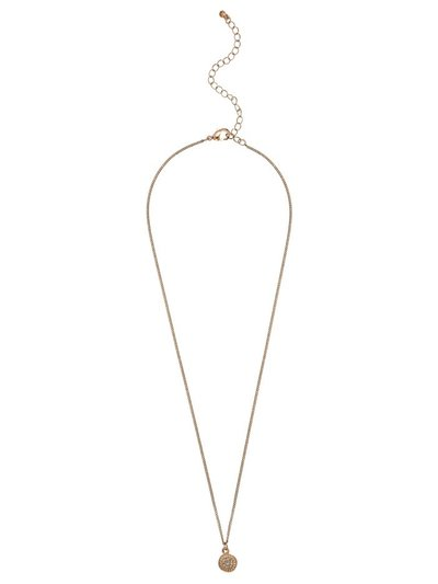 Diamante circle chain necklace