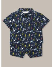 Boat print shirt and shorts set (0-18mths)