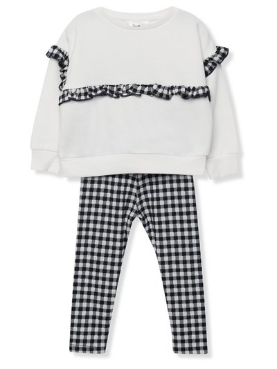 Gingham sweatshirt and leggings set (9mths-5yrs)