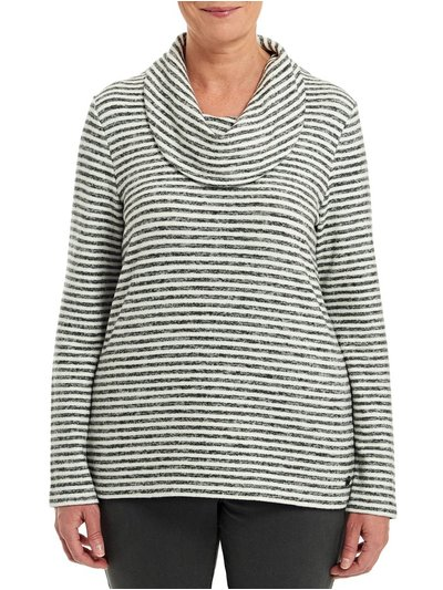 TIGI cowl neck striped top