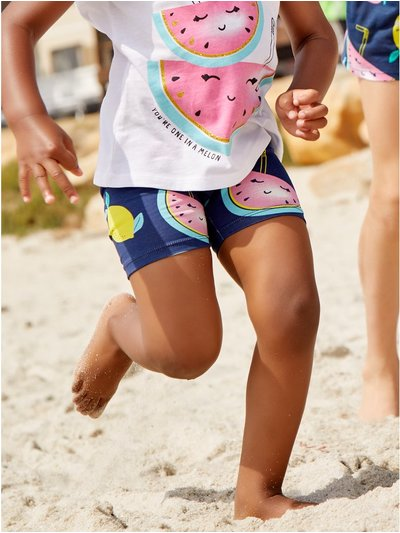 Fruit print cycling shorts (3 - 12 yrs)
