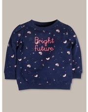 Bright future slogan sweatshirt (9mths-5yrs)