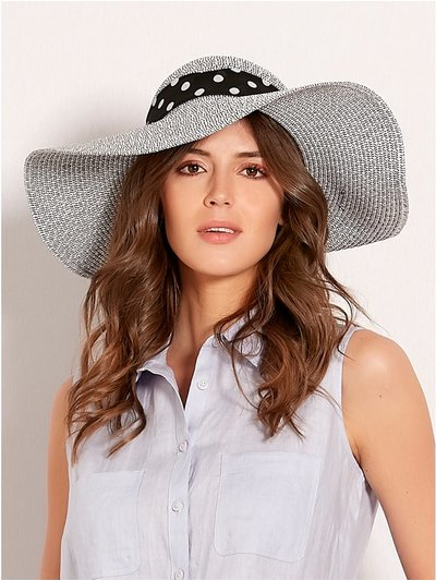 Polka dot bow back hat