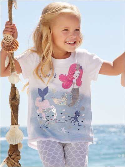Two way sequin mermaid t-shirt